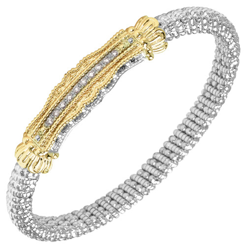 Vahan Diamond Bracelet - Sterling Silver & 14K Yellow Gold, .20ctw Diamonds