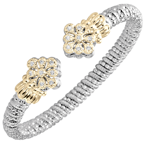 Vahan Diamond Bracelet with Flower Design