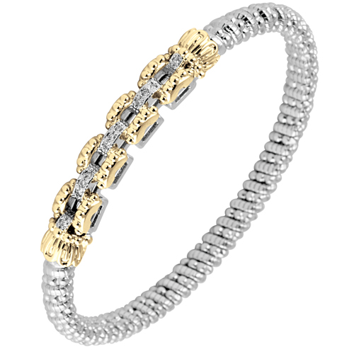 Alwand Vahan Bracelet - Square Links with Diamonds