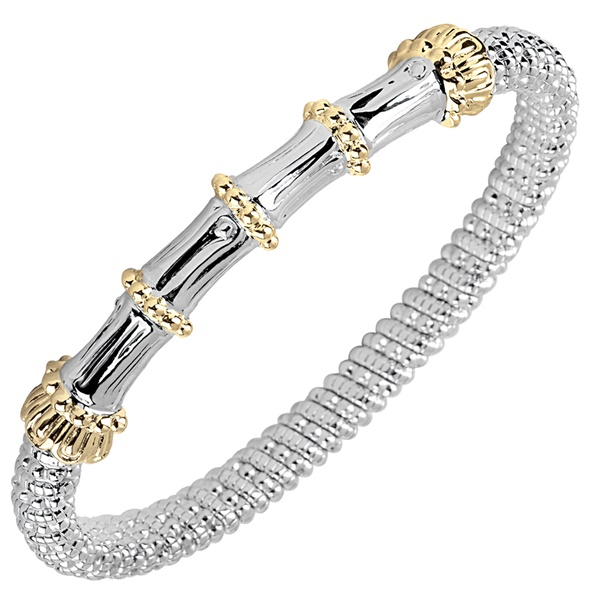 Alwand Vahan Sterling Silver & 14K Yellow Gold Bracelet with Bamboo Design