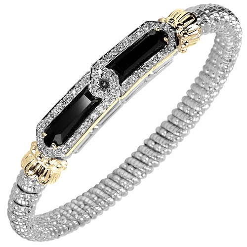 Vahan Black Onyx & Diamond Art Deco Bracelet