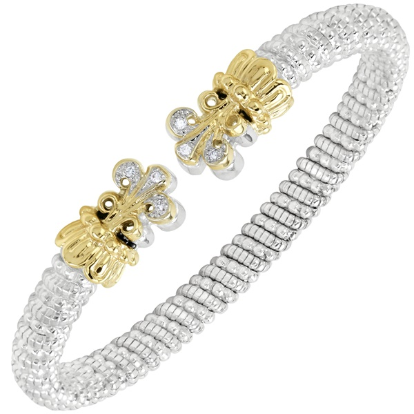 Alwand Vahan Sterling Silver & 14K Yellow Gold Bracelet with Scroll Ends