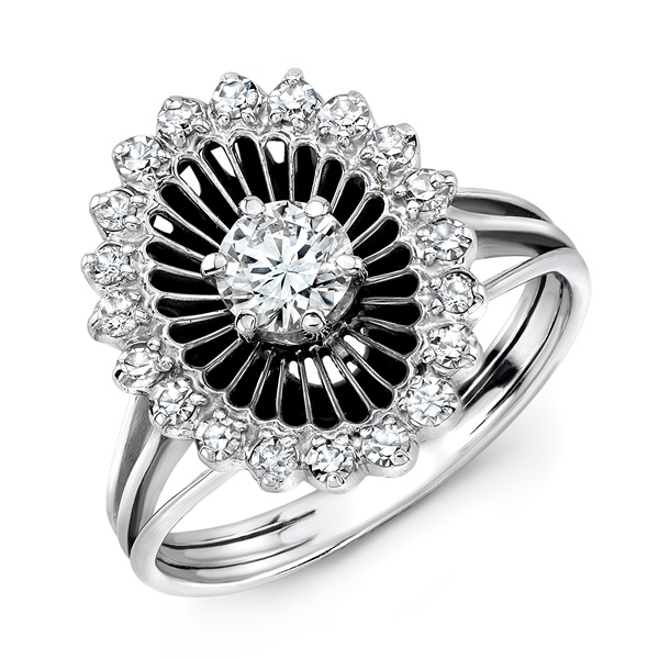 Anna - Vintage Diamond Lace Ring