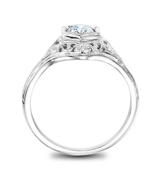 LYDIA - 14k White Gold and Diamond Filigree Ring - .33ct