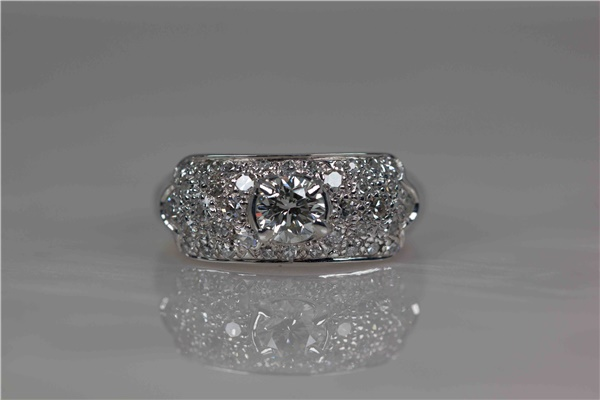 Vintage Platinum & Diamond Cocktail Ring