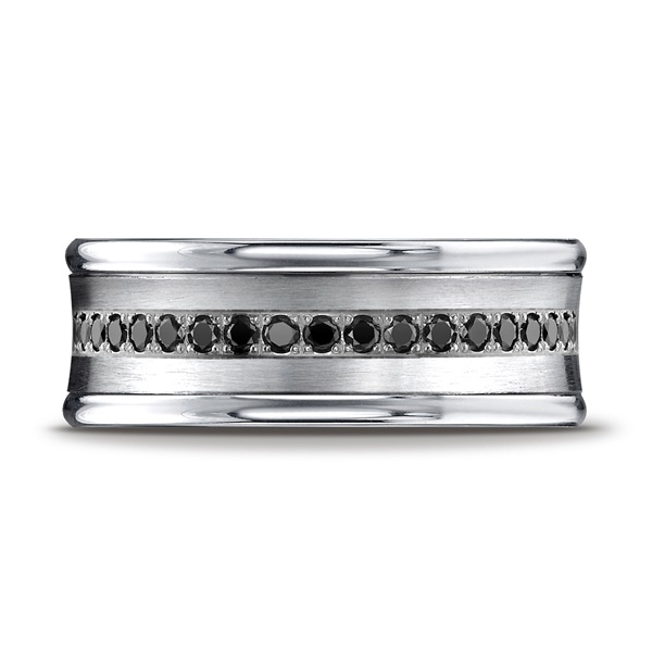 Benchmark 14K White Gold Ring With Black Diamonds