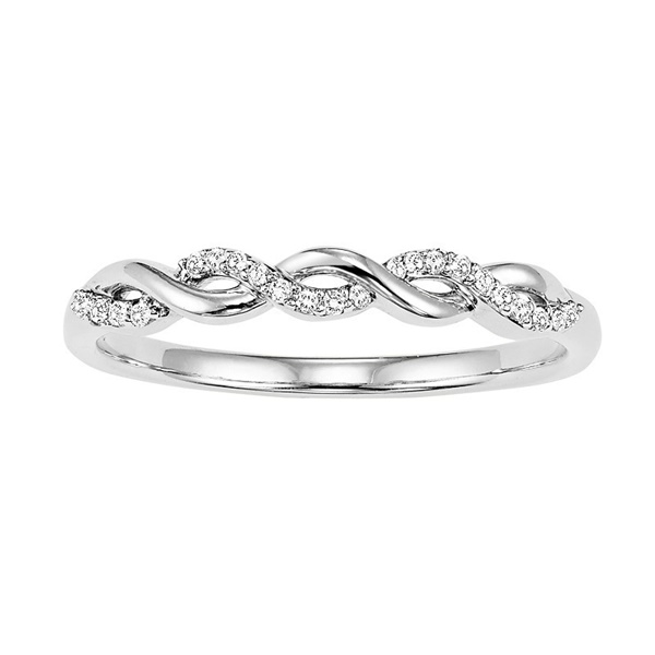 White Gold Diamond Twist Band