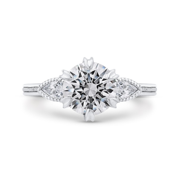 Carizza White Gold Engagement Ring