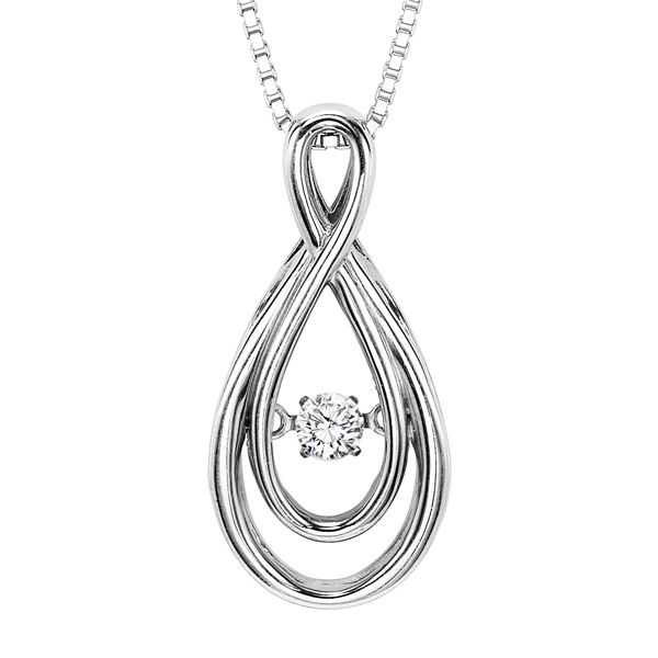 Rhythm of Love Diamond Necklace - Infinity