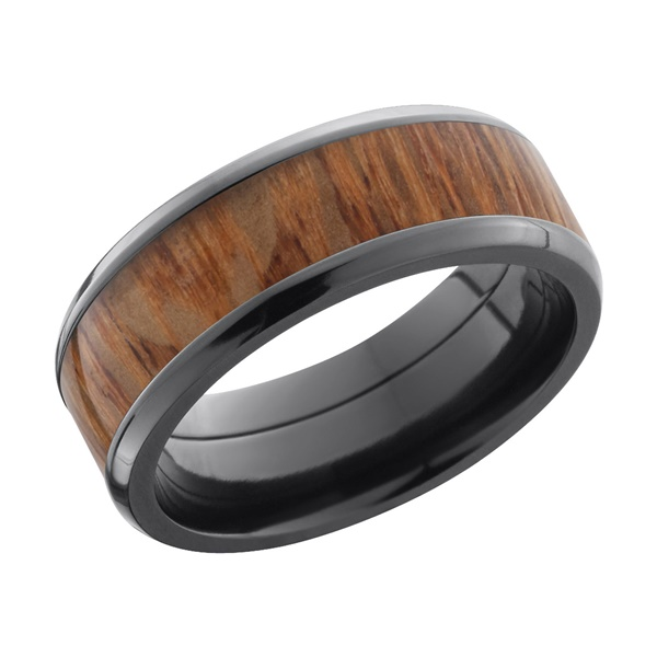 Zirconium and Leopard Hardwood Band by Lashbrook Designs