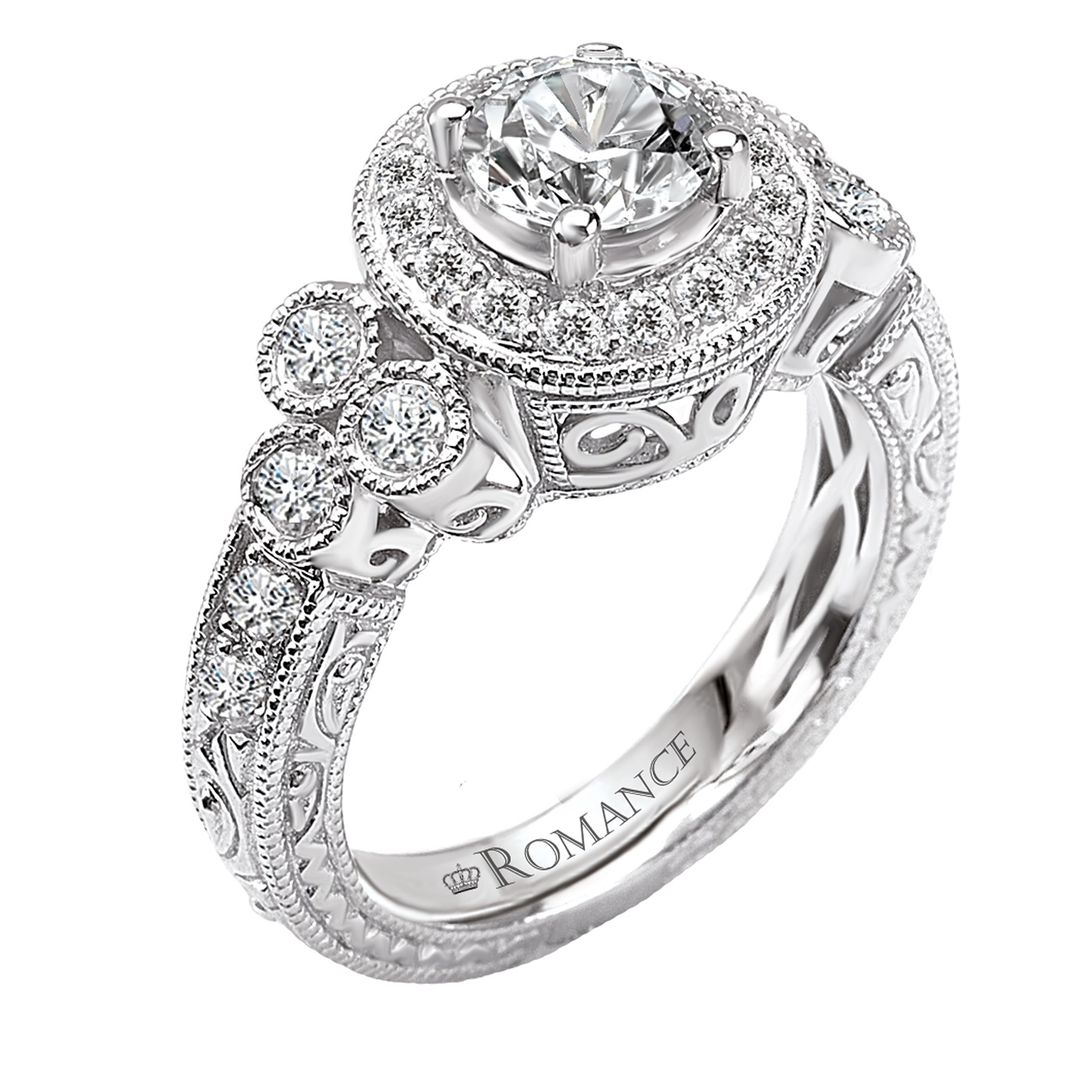 Antique Style Engagement Ring Romance