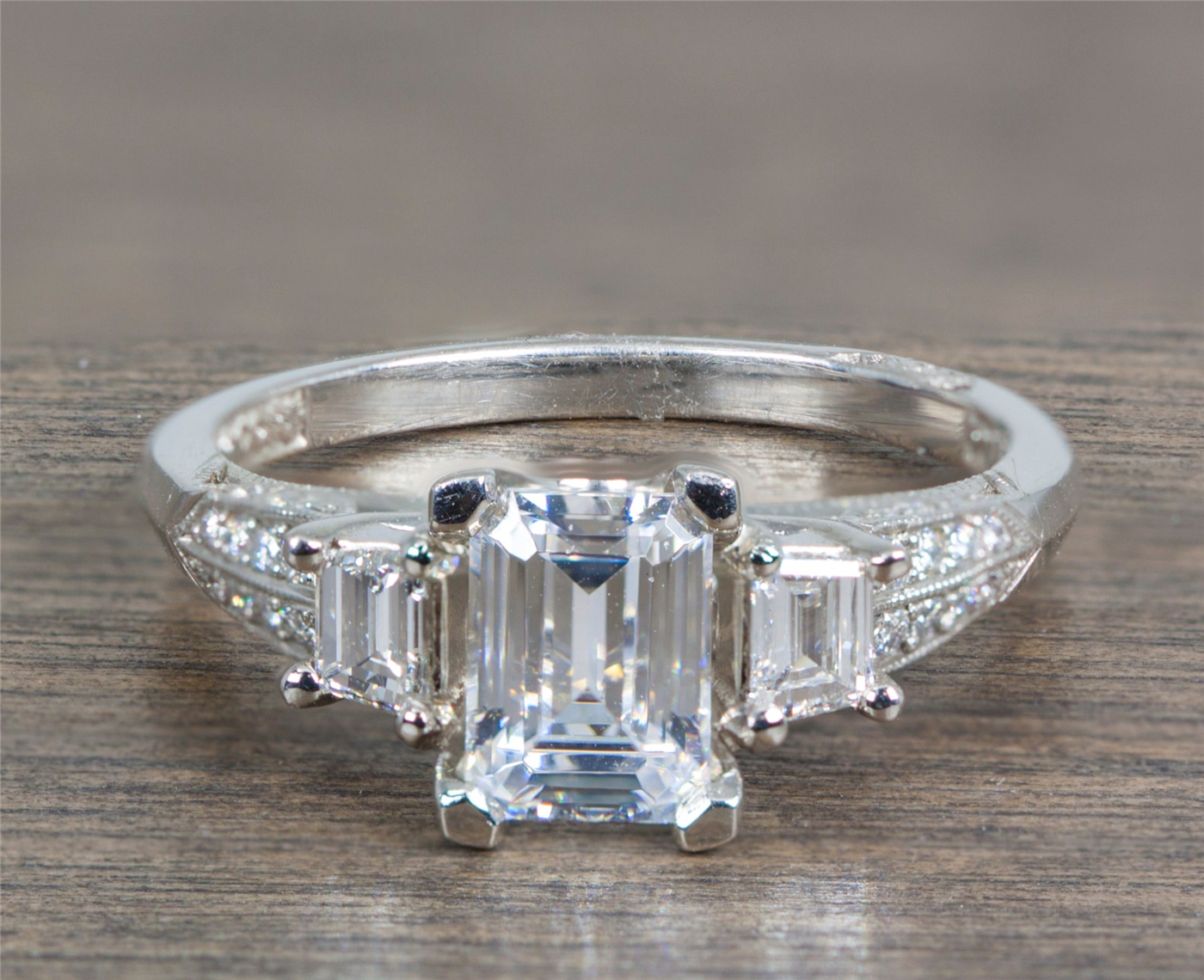 Tacori Platinum And Diamond Engagement Ring Closeout Sale Only 1495